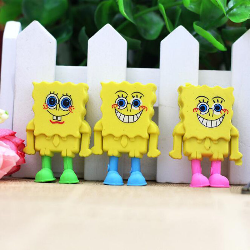 Student Lovely Rubber Cartoon Style SpongeBob SquarePants Eraser Creative For Children Funny Korean Stationery School Supplies
