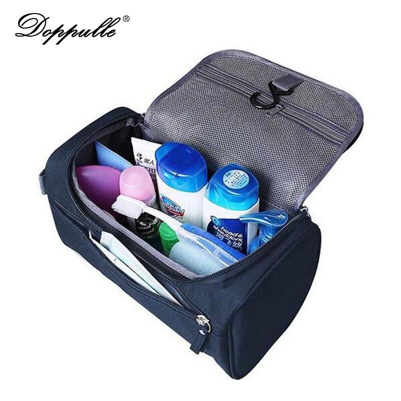 DOPPULLE Women men Large Waterproof Makeup bag Nylon Travel Cosmetic Bag Organizer Case Necessaries Make Up