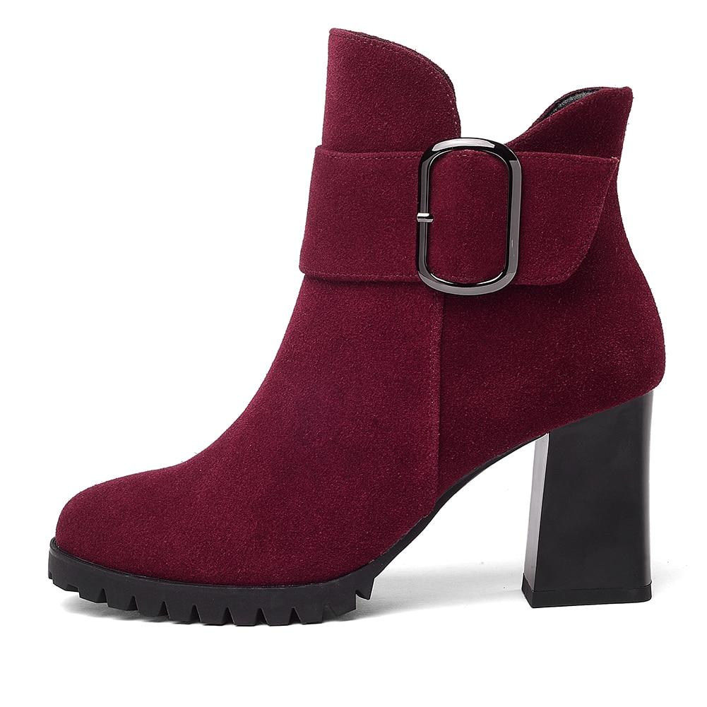 Fur Suede Up New red Botines Lapolaka Grande Zapatos 41 Without Rojos De Por Fur With Botas Venta Fur 34 Mayor Cow Red Talla Mujer Zip Negros Al black qExIdwSfI