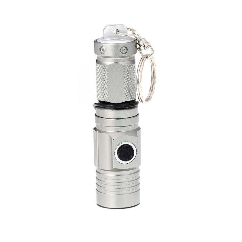 1300 Lumen Super Mini LED Torch Flashlight Rechargeable Penlight Pocket lamp Black Silver Gray 3 Modes for Hunting Cycling 1pc mini keychain pocket torch usb rechargeable light flashlight lamp 0 5w 25lm multicolor mini torch new arrival