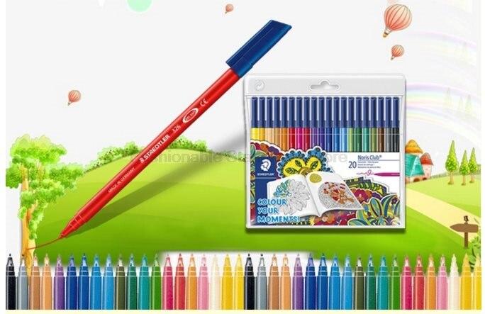 STAEDTLER 326 WP20AC 1mm 20 color Water-soluble Art Markers Pens set Children'S school Gift Cute Drawing Office & School Supplie клей loctte 326 1