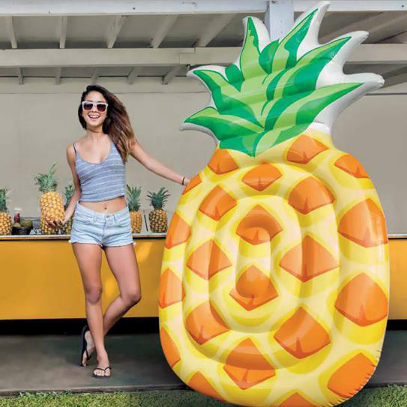 Intex Pineapple Inflatable Children Adult Floating Row Beach