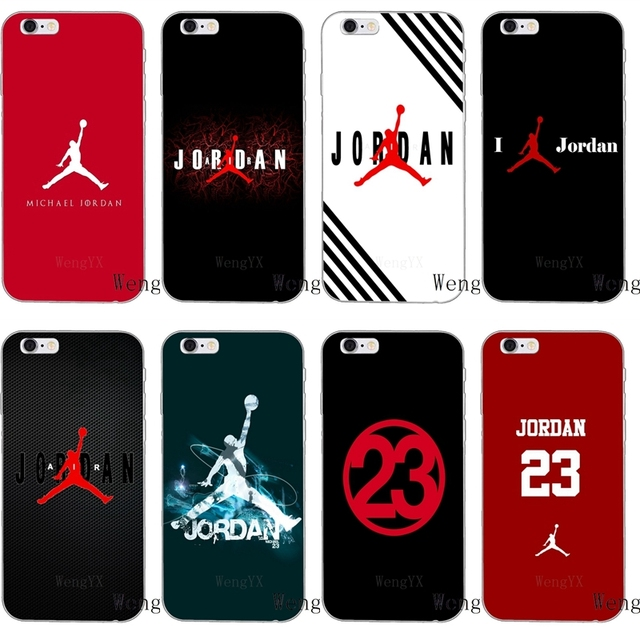 30078f79f91357 flyman air Michael Jordan 23 logo silicone Soft phone case For Samsung  Galaxy S3 S4 S5 S6 S7 edge S8 S9 Plus mini Note 3 4 5 8-in Half-wrapped Case  from ...