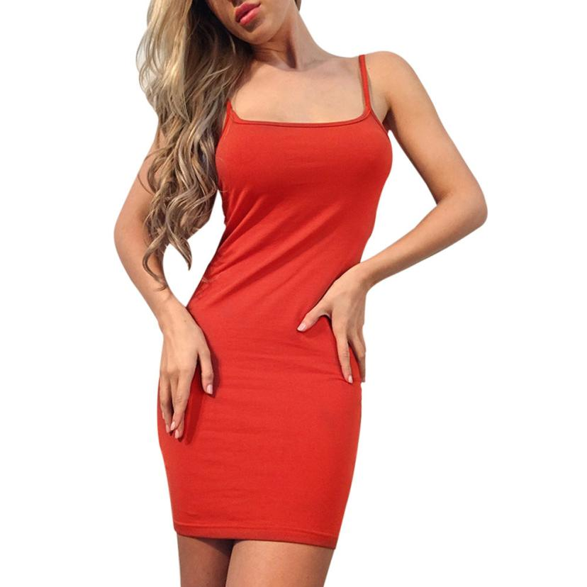 snowshine YLI Sexy Women Solid Sleeveless Evening Party Formal Mini Slim Dress free shipping