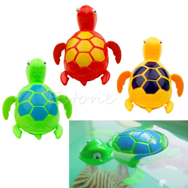 OOTDTY Kids Baby Child Wind Up Swimming Pool Bath Time Toy Animal Floating Turtle