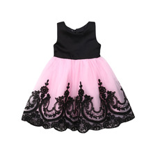 1-6Y New Flower Girl Kids Tutu Bow Dress Sleeveless Backless Princess Party Wedding Bridesmaid Tulle Gown
