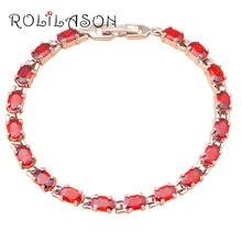 Rolilason гранат ювелирные изделия для дам дружба красный циркон