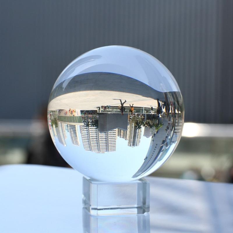 Rare Clear Crystal Fotografie Bal 60mm Aziatische Quartz Feng Shui Sphere Magic Healing Globe Ballen Voor Reizen Photographyer