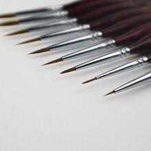 Нейлоновые кисти для рисования ручка-закладка детали искусство кисти для ногтей для акрилового акварельного масла DC120