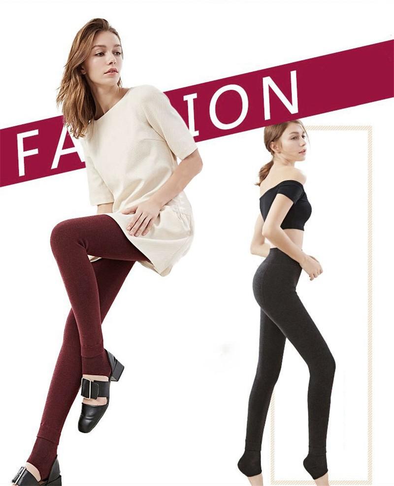 NORMOV Women's Winter Plus Cashmere Leggings Fashion Big Size Warm Super Elastic Faux Velvet Winter Thick Slim Leggings 5