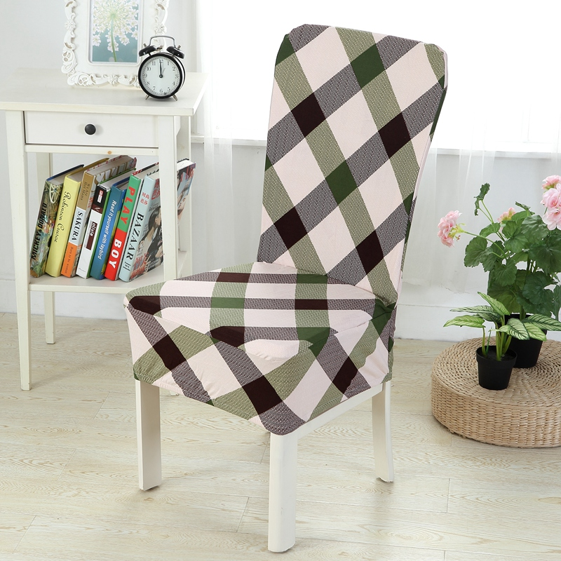 Tartan Dining Chair Covers For Sale Target Furniture Chairs Floral Print Home Cover Elastic Spandex Cloth Universal Stretch Slipcover Set Seat