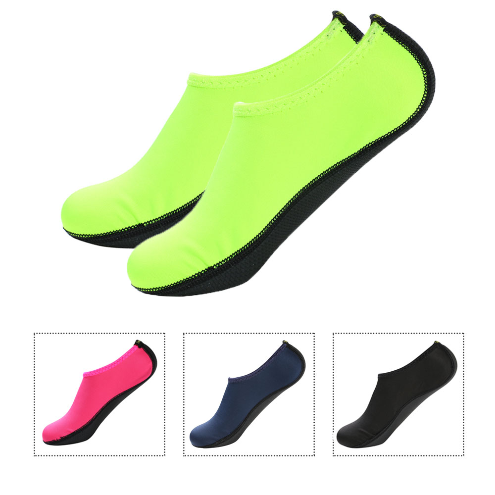 1 Pair Water Socks Aqua Swimming Shoes Snorkeling Non-slip Seaside Beach Breathable Diving Socks Fit For Women Man Surfing