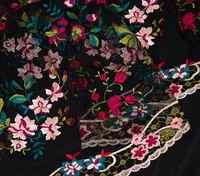 27033c89aa9 4 цвета вышитые laKNITTING Пряжа чистая 3D вышитые шифон цветок кружево  сетки материал ткань платье костюмы