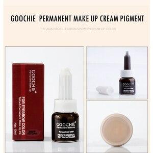 Image 4 - 1 adet GOOCHIE Microblading pigmenti kalıcı makyaj kaş dudak Pigment 6 renk dövme mürekkep kaş Pigment dövme makine mürekkebi
