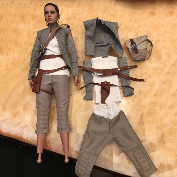 1/6 Scale Rey Costume Star Wars The Force Awakens Clothes Set  For 12 Action Figure Accessory