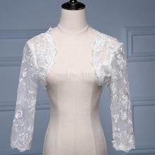 2017 Bridal wedding lace 3/4 sleeves BOLERO lace jacket WEDDING  jackets Bride
