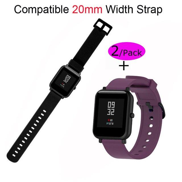 20mm סיליקון שעון צמיד לxiaomi Huami Amazfit ביפ רצועת יד עבור Garmin 20mm Pulsera קוראת עבור Samsung 20mm להקת שעון