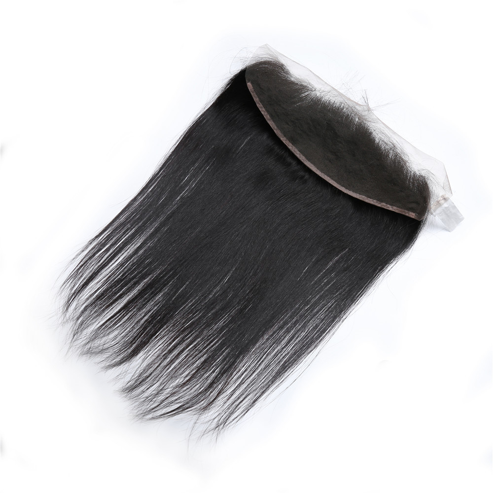 BD HAIR 13x4 Cierre frontal de encaje Parte libre Oreja a oreja con - Cabello humano (negro) - foto 3