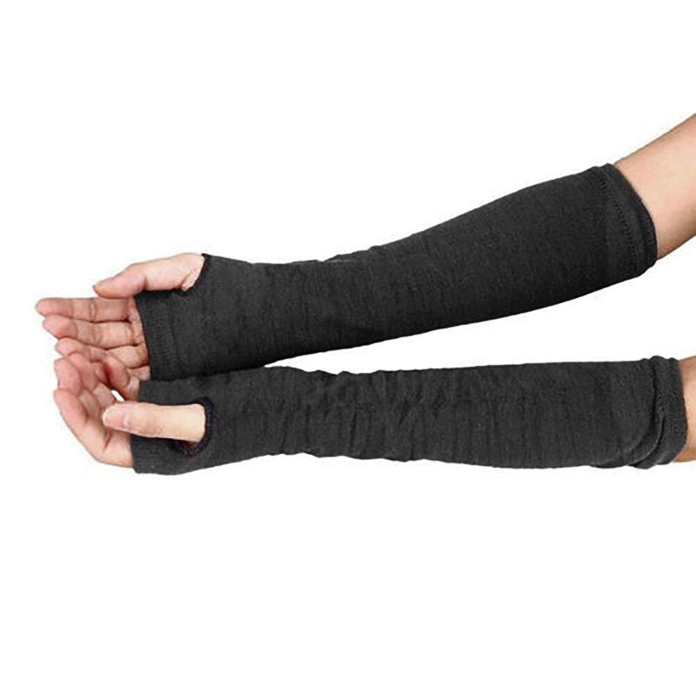 1 Paar Neue Mode Frauen Warme Weiche Gestreiften Handgelenk Arm Wärmer Winter Herbst Twist Lange Halbhand Stricken Handschuhe Armstulpen Bekleidung Zubehör
