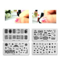 12 KINDS Negative Space Nail Art Stamping Stamp Template Image Plates Cool Triangle Nail Stamp Plate