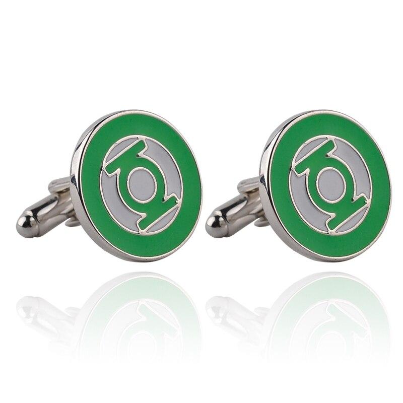 1 Pair Classic Green Elegant Jewelery France Nail Design Cufflinks Wedding Gift Men Blouse Abotoadura Masculina Cufflinks
