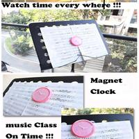 Only 6 10 Days Arrive To USA By E Packet In Air Music Class Magnet Clock,Magnet Watch Wall Clock,Pink Clock Fridge Sticker