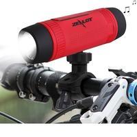 Bluetooth Lautsprecher Im Freien Fahrrad Portable Subwoofer Bass Lautsprecher 4000 mAh Energienbank + LED-licht + Fahrradhalterung + Karabiner Zealot S1
