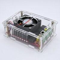XH A103 High power digital Bluetooth power amplifier panel TDA7498 intelligent fan 2*100W power 12 24V