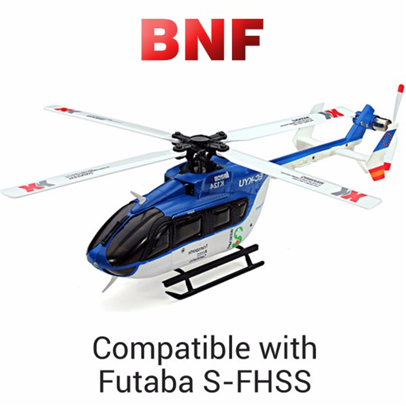 XK K124 6CH Brushless  EC145 3D6G System RC Helicopter BNF for Kids Children Toys Remote Control Compatible With FUTABA S-FHSS original xk k124 bnf without tranmitter ec145 6ch brushless motor 3d 6g system rc helicopter compatible with futaba s fhss