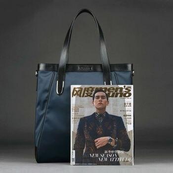 черная нейлоновая сумка через плечо | Качественные холщовые сумки большой емкости водонепроницаемые нейлоновые мужские сумки из натуральной кожи черные синие сумки и сумки чер...