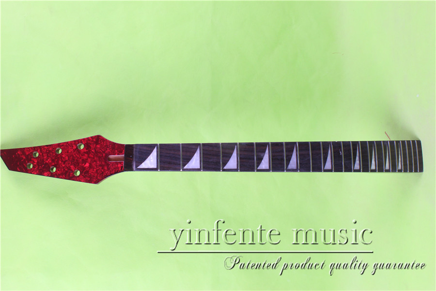L-00167 # 25.5 Electric guitar neck fine quality ebony fingerboard 24 fret one electric bass guitar neck high quality maple made with ebony fingerboard 21 fret