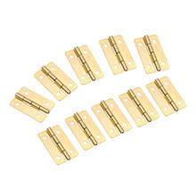 10Pcs 30x21mm Mini Cabinet Door Hinges Furniture Fittings Jewelry Boxes Small Decorative Cupboard Hinge for Furniture with Screw цены