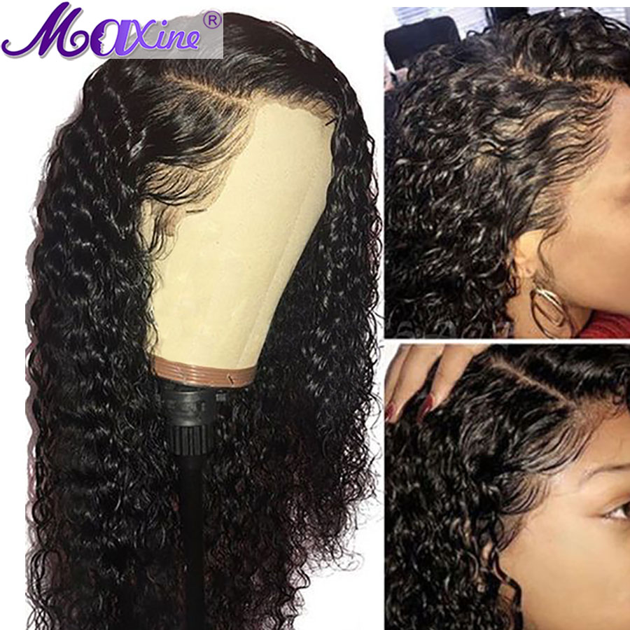 Maxine Curly Human Hair Wig Brazilian Wig Lace Front Human Hair Wigs Remy Hair Pre Plucked