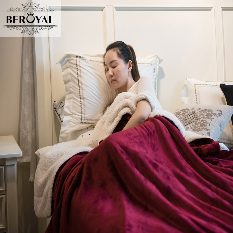 Beroyal Brand 2017 Cashmere Blanket -1PC Cashmere Throw Blanket  Thicker Blankets for Sofa Car Travel 150*200cm  free shipping h letter blanket brand designer home blankets wool cashmere car travel portable blankets throw bed 158x138cm size