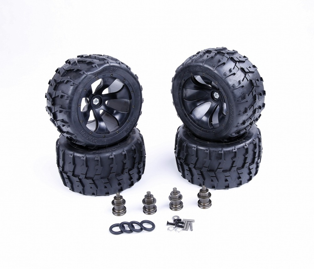 Modified Bigfoot tire assembly kit II for 1/5  Losi 5ive-T Rovan SLT BAJA 4WD