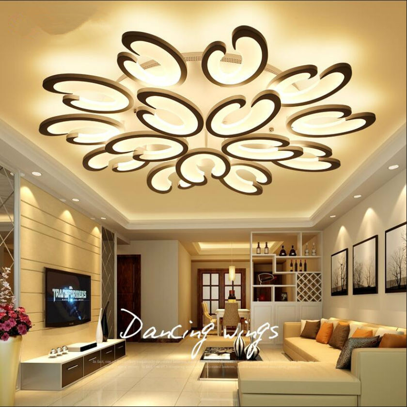 Lusters <font><b>LED</b></font> Ceiling Lights Luminaria Dimming Chandelier Ceiling Home Lighting Fixtures Acrylic Lustre <font><b>Plafonnier</b></font> Lampara Remote