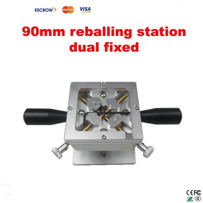 Free Shipping! 90mm reballing station dual fixed direction, BGA jig support PS3 reballing стоимость