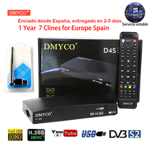 D4S Pro DVB-S2 HD FTA Satellite TV Receiver+Europe Cline for 1 Year Spain support powervu Satellite decoder+USB WIFI Tv Receptor