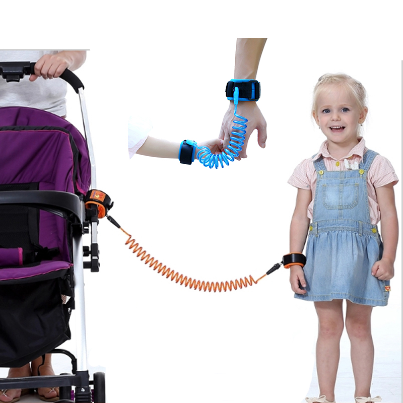 Baby Stroller Accessories Kids Safety Harness Child Anti lost Wrist Link Children Belt Walking Assistant Baby