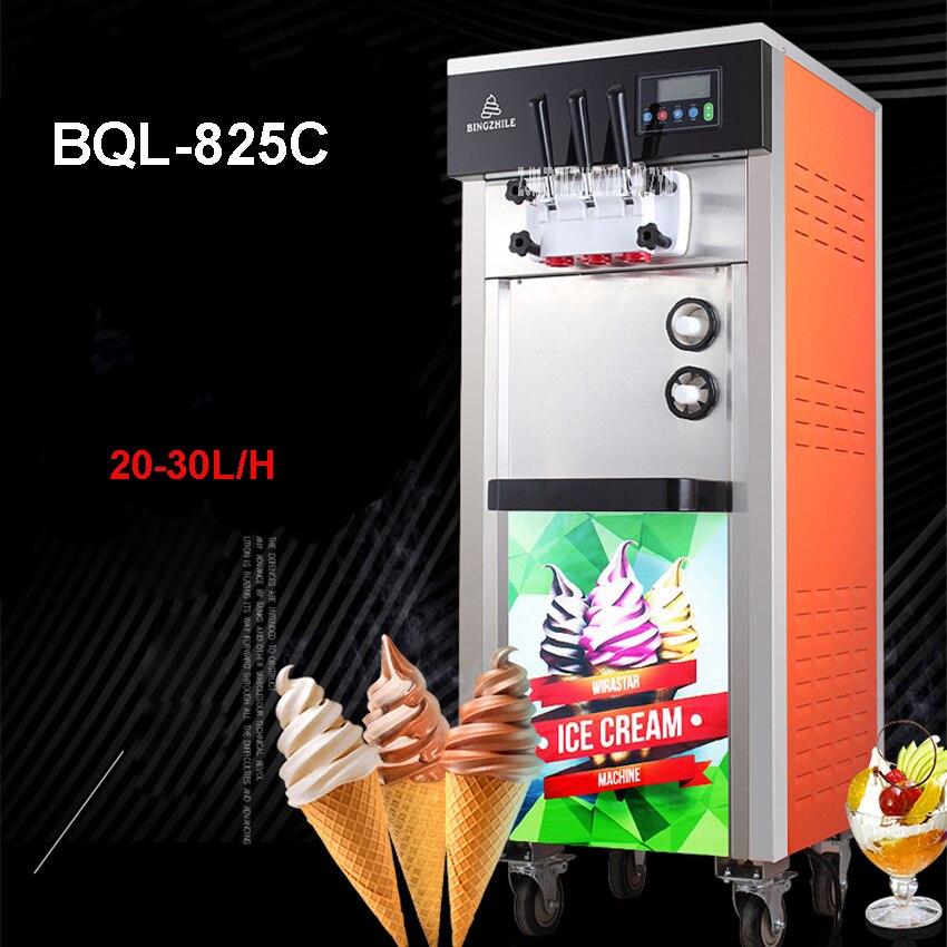 BQL-825C 220V/110V 20-30L /H Soft ice cream maker 1800w ice cream machine stainless steel Vertical machine Yogurt Ice CreamBQL-825C 220V/110V 20-30L /H Soft ice cream maker 1800w ice cream machine stainless steel Vertical machine Yogurt Ice Cream
