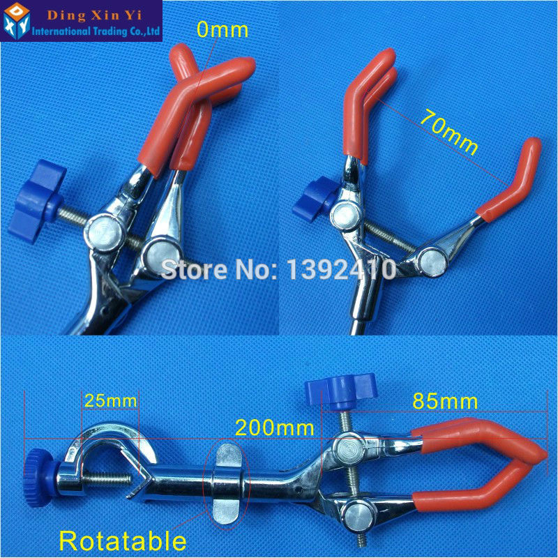 1PC 0-70mm Three Prong Extension Multifunction Lab Clamp Extension Condenser Three Finger Clamp,Beaker Clip