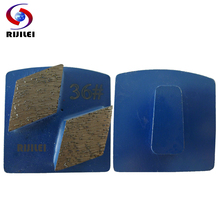 RIJILEI 35*20*10mm*2T Metal Diamond Concrete Grinding Pad Scraper for strong magnetic plate of floor grinder disc L30