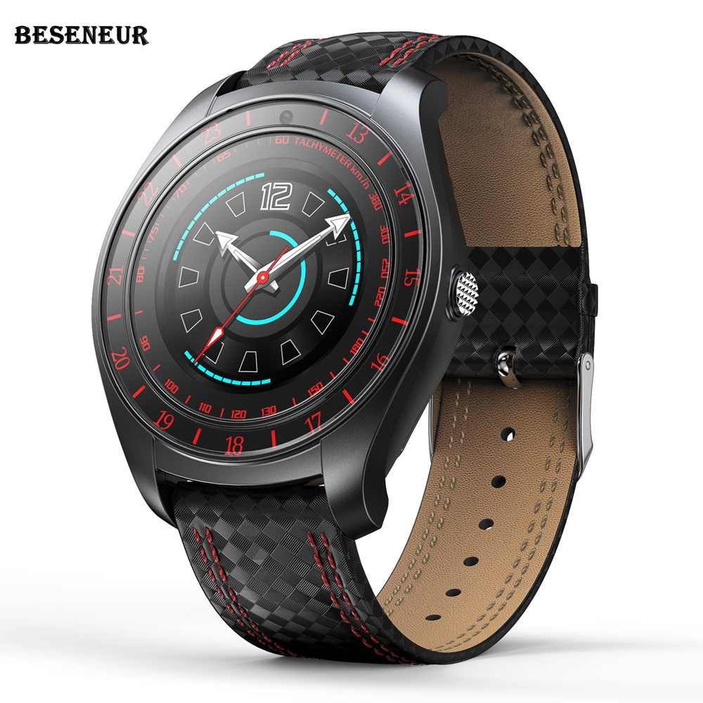 Beseneur <font><b>V10</b></font> Smart Watch Men Heart Rate Monitor Sim Card Bluetooth Pedometer with Camera <font><b>Smartwatch</b></font> for Android phone PK V9 V9HR image