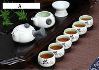 10pcs/set Snow glaze tea sets,6 tea cups and 1 tea pot, ChineseTravel Kung Fu teaset. hot sales of Ceramic tea set.Coffee cup