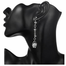 ISHOPPING Fashion Earrings Opal Drop Earrings for Women Crystal Earrings Trendy Jewelry fake opal geometry drop earrings