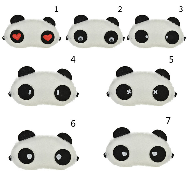 Mask For Sleep Cute Panda Sleeping Face Eye Blindfold Eyeshade Breathable Kids Women Travel Cover Health Care Aid Eyepatch Tool 1