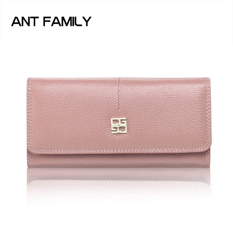 Women Wallets Genuine Leather Long Wallet Luxury Brand Coin Purse 2017 Fashion Card Holder Wallet ladies Leather Wallet Clutch joyir embossed flowers genuine leather women wallets brand design fashion long purse clutch coin purse card holder lady female27