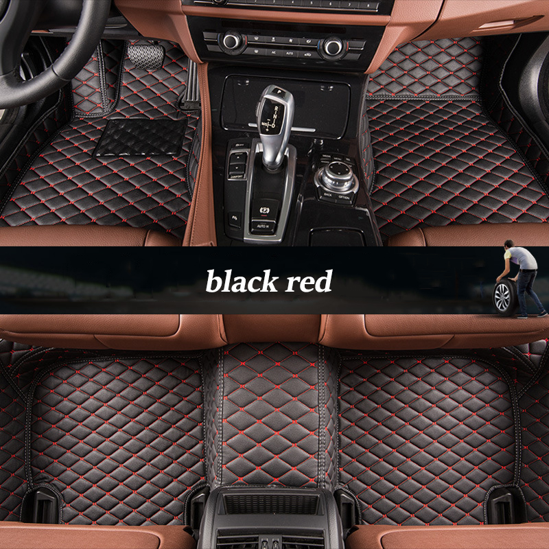 kalaisike Custom car floor mats for Lincoln all models Navigator MKZ MKS MKC MKX MKT car styling auto accessories new 14smd lamp arrow panel car rear view mirror turn signal light for lincoln aviator ls mkc mks mkt mkz navigator town car