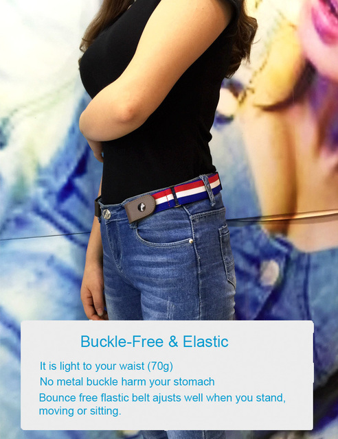 2019 Buckle Free Elastic Belt Buckle Free No Buckle Stretch Belt Women s Plus Belts for