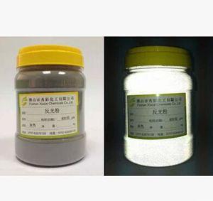 Image 2 - 100g Bianco Grigio Riflettente in polvere Ad Alta rifrazione vetro microsphere riflettente della polvere del Pigmento Riflessa Luce Bianca rivestimento